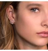 APM MONACO Madeleine - RE9984OX - Ohrringe - krstallen - rosa gefärbte