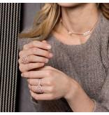 APM MONACO Cashmere - R17869OX - ring - kristallen - rosé kleurig