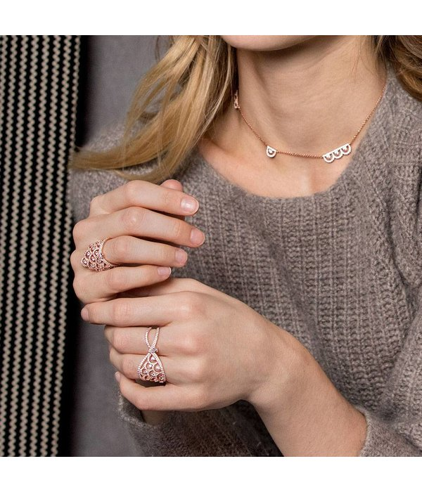 APM MONACO Cashmere - R17869OX - ring - crystal - rose colored