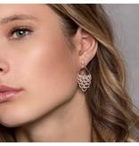 APM MONACO Cashmere - RE9982OX - oorhangers - kristallen - rosé kleurig