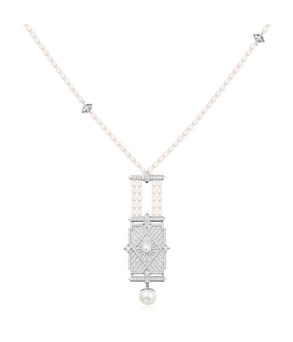 APM MONACO 1930 - AC3274XPL halsketting - zilver 925% - parels - 80cm