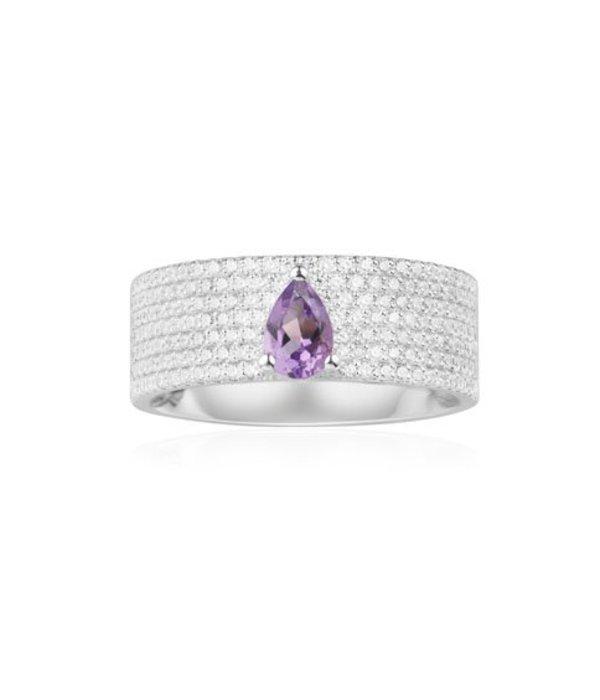 APM MONACO Luna - A17779XAM - ring - cristal - argent 925% - argent