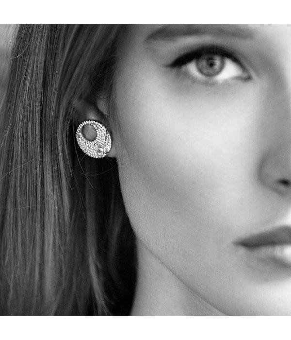 APM MONACO Luna - AE9886OX - earrings - crystals - silver 925%