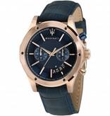 MASERATI  Circuito - R8871627002 - horloge - chronograaf - leer - rosé kleurig - 44mm