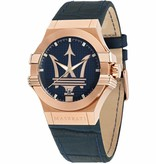 MASERATI  Potenza - R8851108027 - mens watch - leather - rose color - 42mm