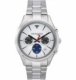 TRUSSARDI First - R2473612002 - herenhorloge - chronograaf - zilverkleurig - 43mm