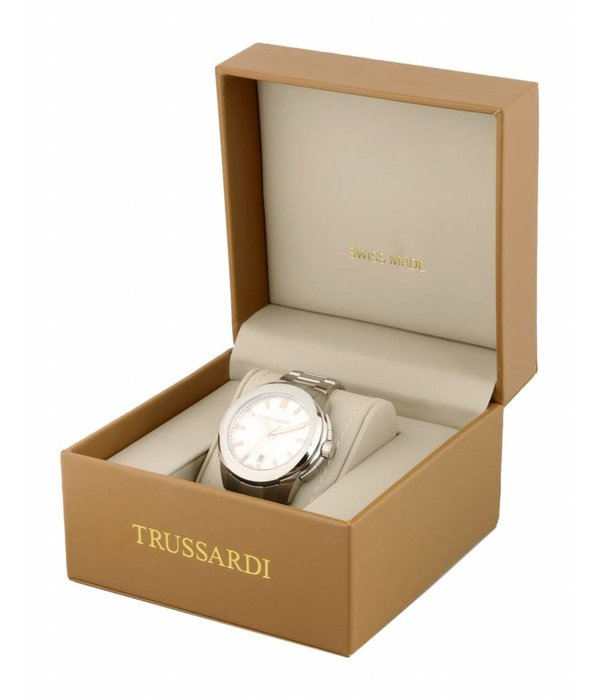 TRUSSARDI First R2471612001 - Men's Watch - Chronograph - Gold and Silver - 43mm