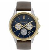 TRUSSARDI First R2471612001 - herenhorloge - chronograaf - goud en zilverkleurig - 43mm