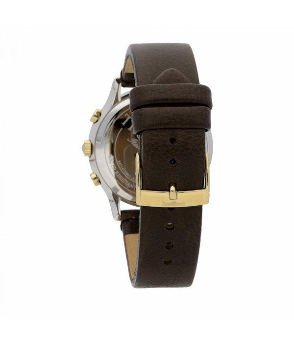 TRUSSARDI Tout d'abord R2471612001 - Montre pour homme - chronographe - or et argent - 43mm