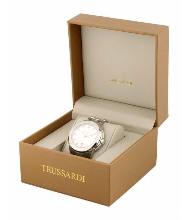 TRUSSARDI Erste R2451112003 - Herrenuhr - Leder - silber - 43mm