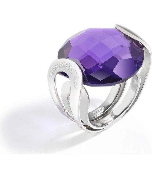 PIANEGONDA Brightness - FP008001 - ring - silver 925% - purple color