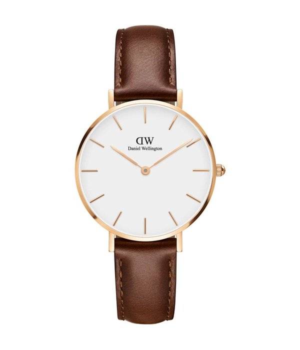 DANIEL WELLINGTON Classic Petite St Mawes DW00100175 - dames horloge - rosé kleurig - 32mm