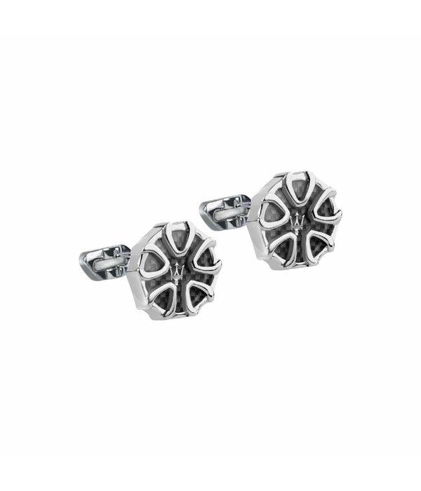 MASERATI  JM217AJF29 - manchetknopen - zilverkleurig - ronde vorm