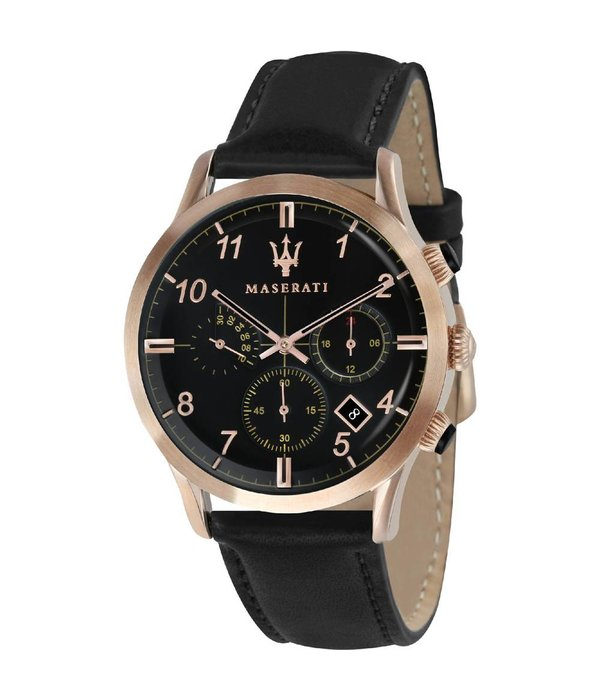 MASERATI  Ricordo R8871625004 - heren horloge - chronograaf - rosékleurig - 42mm