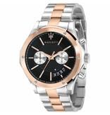 MASERATI  Circuito R8873627004 - men's watch - chronograph - rosé and silver colored - 44mm