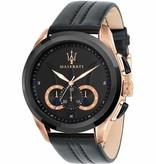 MASERATI  Traguardo R8871612025 - men's watch - chronograph - rose colored - 45mm
