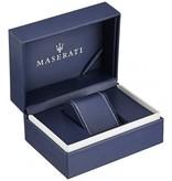 MASERATI  Eleganza R8851130002 - horloge - leer - zilverkleurig - 42mm