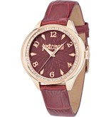 JUST CAVALLI Just Cavalli JC01 R7251571508 - ladies watch - leather - rosé colored - 35mm