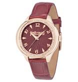 JUST CAVALLI Just Cavalli JC01 R7251571508 - Montre femme - cuir - couleur rose - 35mm