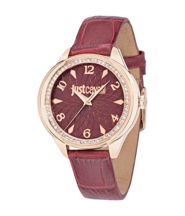 JUST CAVALLI Just Cavalli  JC01 R7251571508 - dames horloge  - leer - rosé kleurig - 35mm