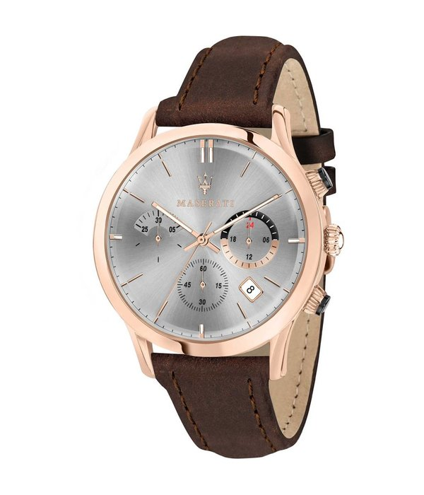 MASERATI  R8871633002 RIcordo men's watch - chronograph - leather - rosé colored - 42mm