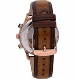 MASERATI  R8871633002 RIcordo herenhorloge - chronograaf - leer - rosé kleurig  - 42mm