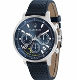 MASERATI  GT R8871134002 - men's watch - eco energy - chronograph - leather - 44mm