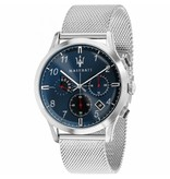 MASERATI  R8873625003 Ricordo - horloge - chronograaf - zilverkleurig - 42mm