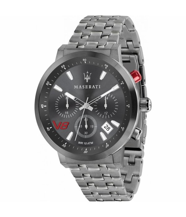 MASERATI  horloge Granturismo R8873134001 - chronograaf - grijs kleurig - 44mm
