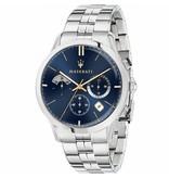 MASERATI  Ricordo R8873633001 - men's watch - chronograph - blue dial - silver colored - 42mm