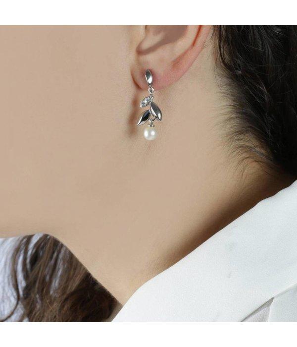 MORELLATO Gioia Saer23 - oorhangers - zilver kleurig - parels 6 mm