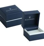 MASERATI  Bracelet Prestige JM417AKV08 - cuir - noir et argent - 250mm