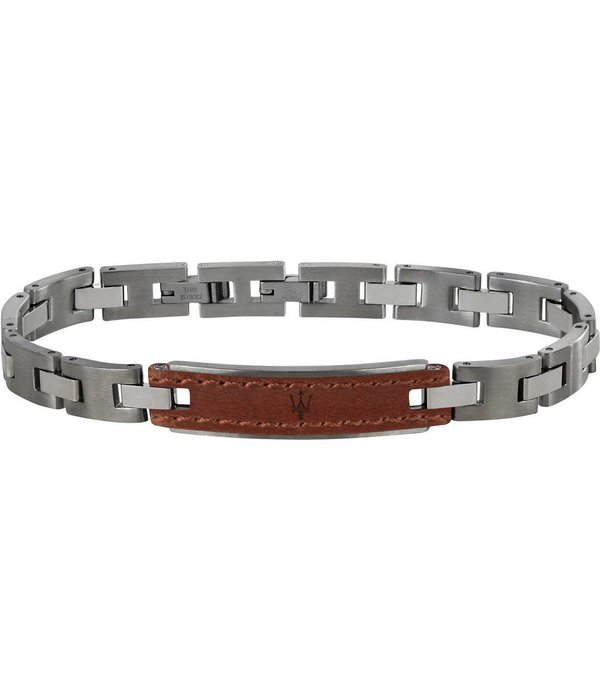 MASERATI  JM218AMD01 - bracelet - leather - silver - 215mm