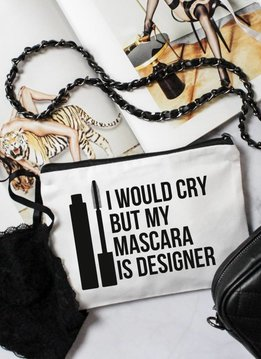 Gossengold I would Cry, But my Mascara is Designer Make-up Tasche