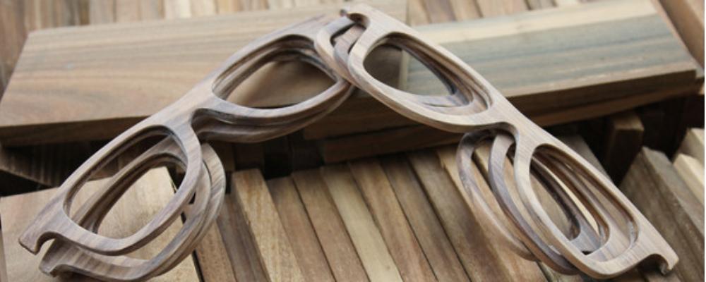 Sonnenbrille aus Holz Herstellung