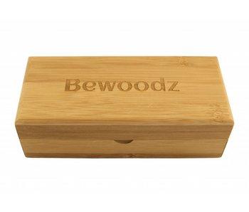Bewoodz ® Brillenetui aus Holz - Eckig