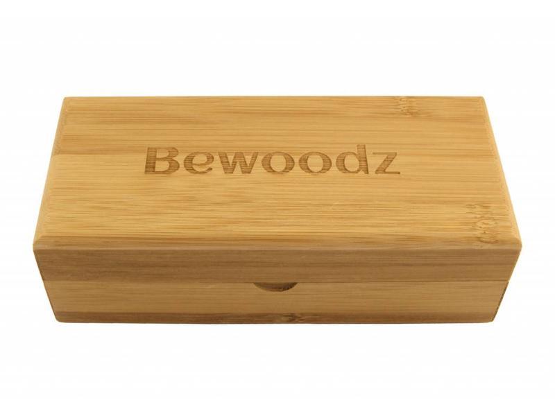 Bewoodz ® Brillenetui aus Holz (Bambus) - Eckig