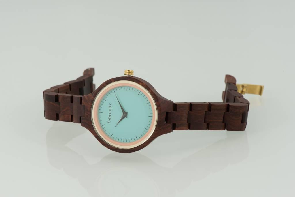 holzuhr damen holz uhr armbanduhr aus holz damen bewoodz onlineshop. Black Bedroom Furniture Sets. Home Design Ideas