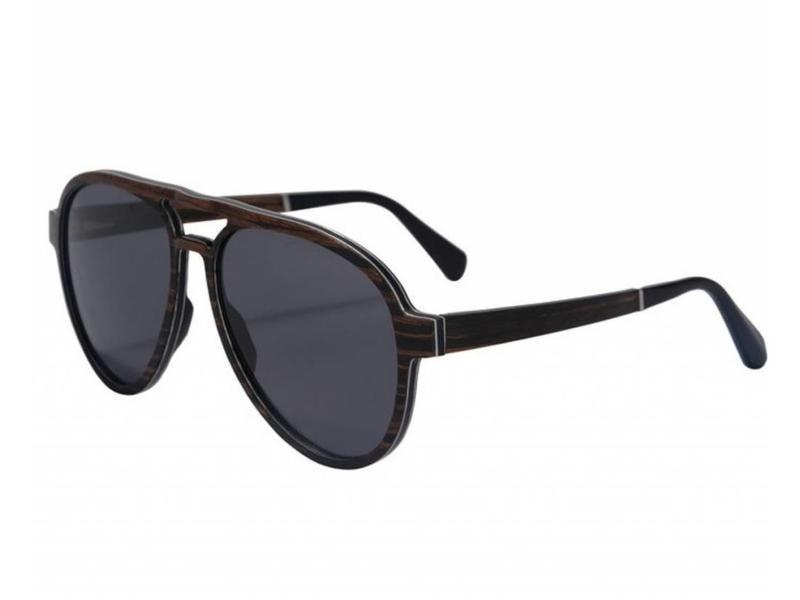 Bewoodz ® Holz Sonnenbrille Piloten Stil 'Nebraska'