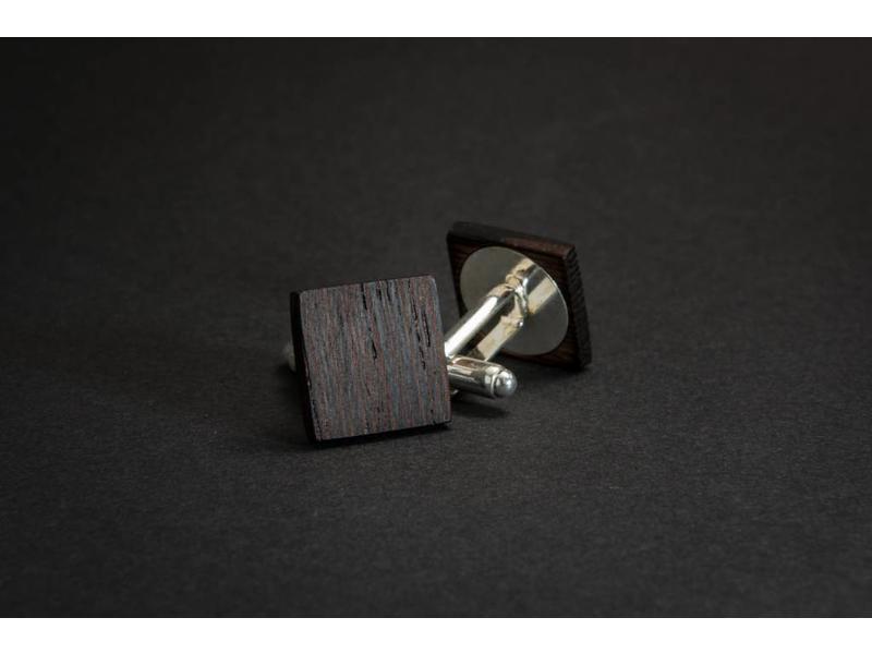 Bewoodz Manschettenknöpfe aus Holz 'Leopold'