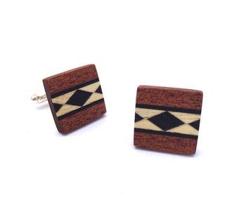 Bewoodz Manschettenknöpfe aus Holz 'José Luis'