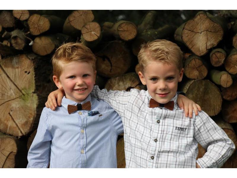 Bewoodz Holzfliege Kinder - Natur Pur