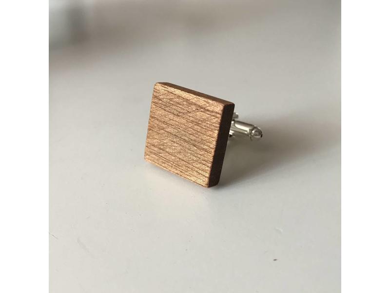 Manschettenknöpfe Holz - Individuelle Gravur