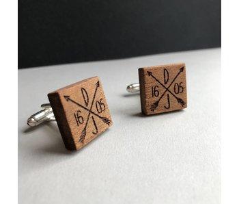 Manschettenknöpfe Holz Hochzeit 'Love'