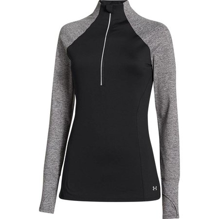 Under Armour Ladies running shirt Heather Storm 1/2 Zip