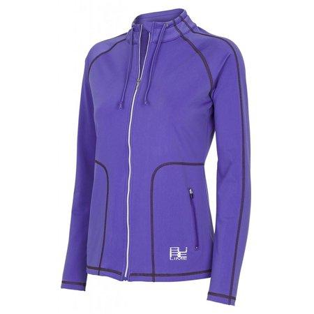 Pure Lime Ladies Jacket Gym Addict Jack Purple