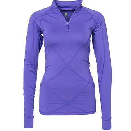 Pure Lime Ladies running shirt Intense 1/2 zipper purple
