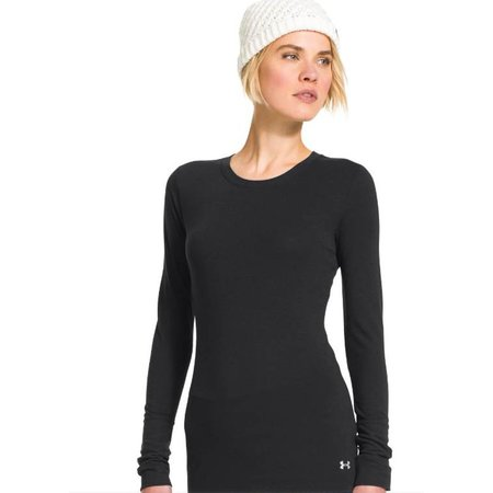 Under Armour Dames thermoshirt Infrared Crew zwart
