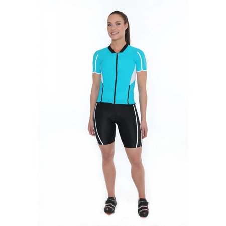 Zero RH+ Dames Fietsshirt dames Revo W Jersey Blauw/Turquoise