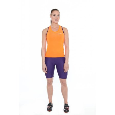 Craft Women's Cycling Jersey tank top ladies glow orange singlet